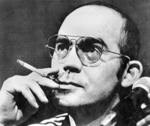 "Hunter S. Thompson ""Putting the Bastards of the world on notice, photo courtesy of http://www.litkicks.com/HunterSThompson#.U1HKKVd435c"