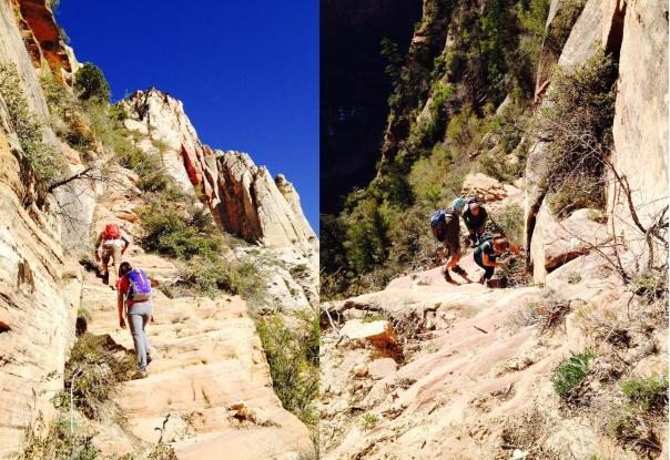 The trek up Lady Mtn