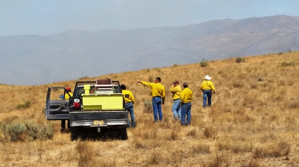 Rural fire district. They headed up to work the north end of the fire.