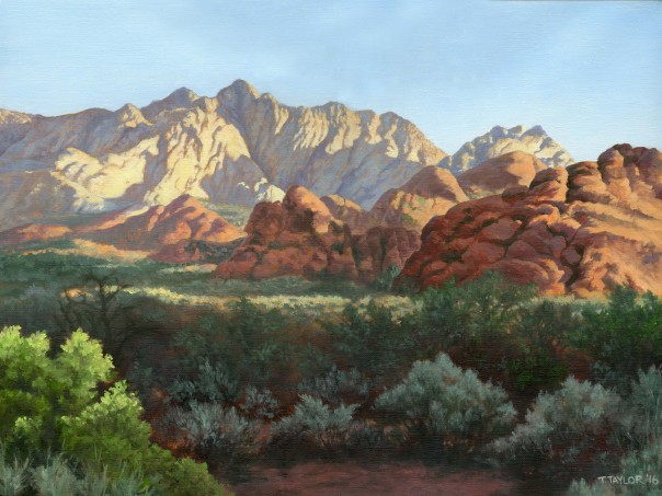 Snow Canyon Painting